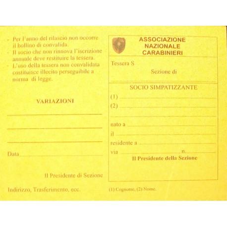 Cartoncino Tessera SOCIO SIMPATIZZANTE