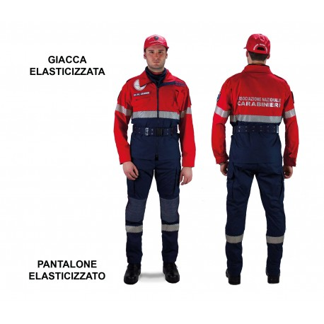 Pantalone Operativo in Tessuto Idrorepellente Elasticizzato