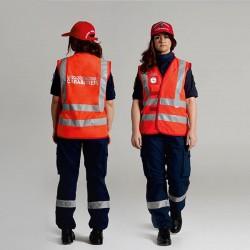 Gillet Alta Visibilità Rosso Protezione Civile ANC