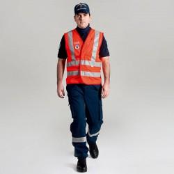 Gillet Alta Visibilità Rosso Volontariato ANC